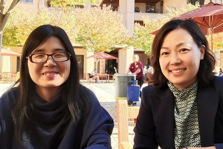photo of visiting scholars from china at Stanford campus for vs activity