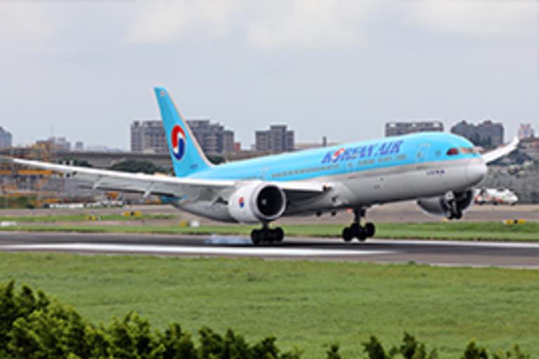 Korean Air Airplane Taking Off
