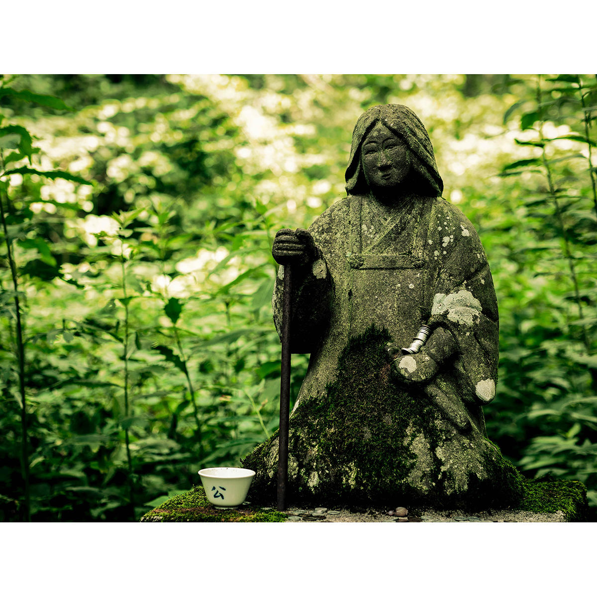 Mossy statue
