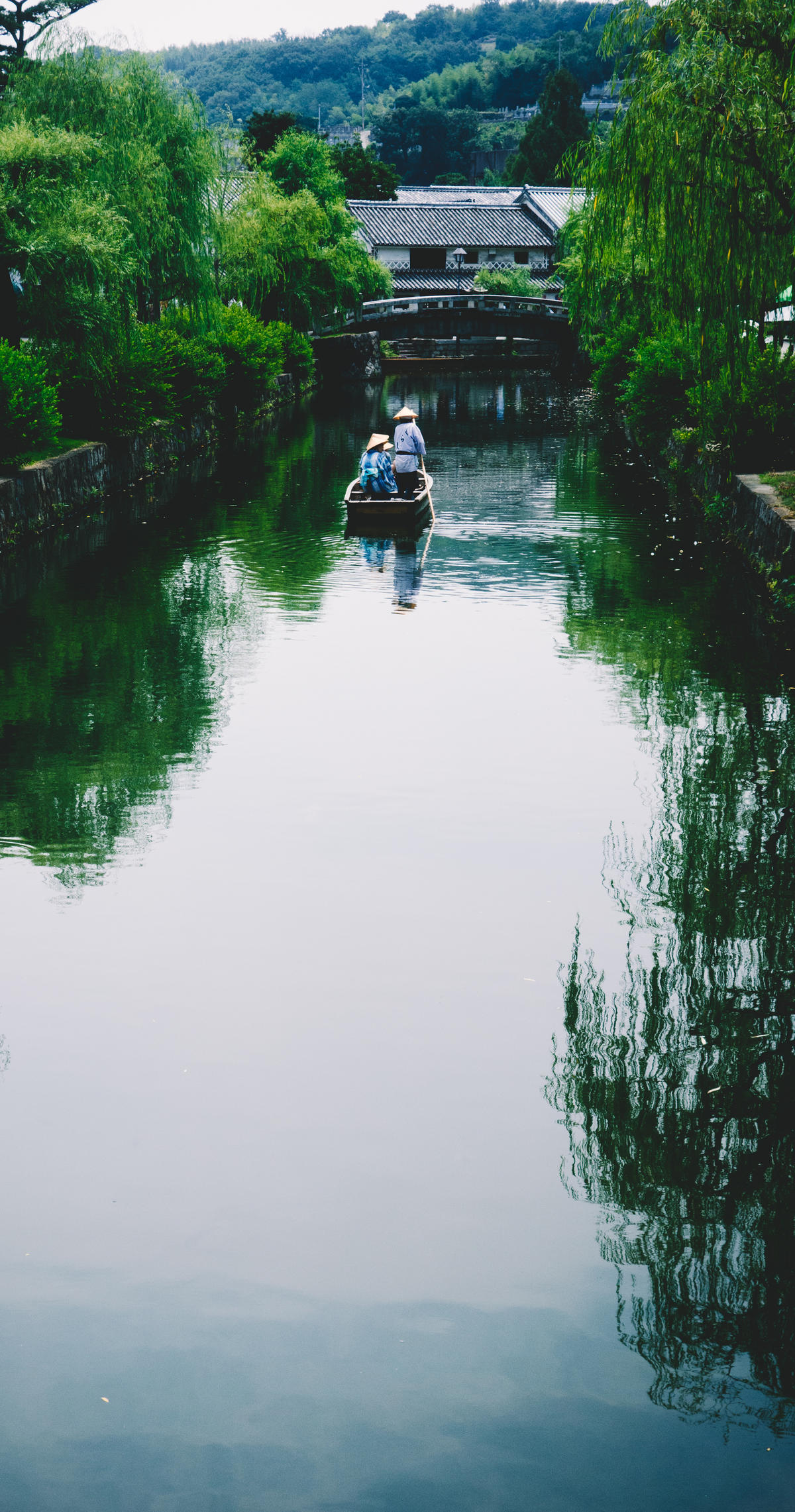 People in a boat on the river