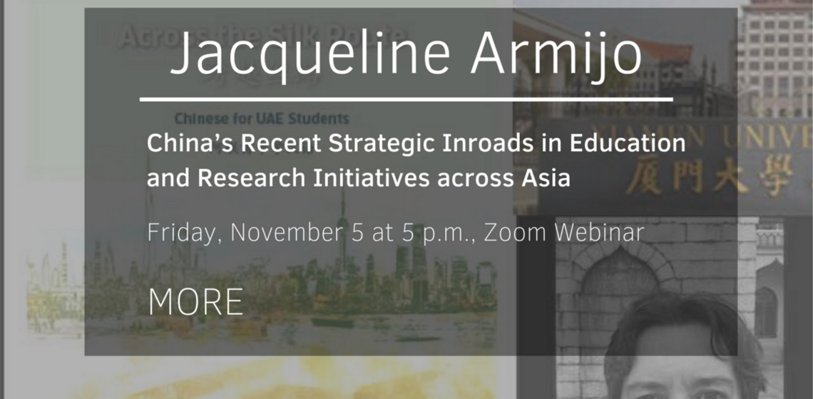 China's Recent Strategic Inroads in Education and Research Initiatives across Asia