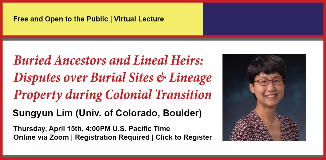 Click here to register for Buried Ancestors and Lineal Heirs.