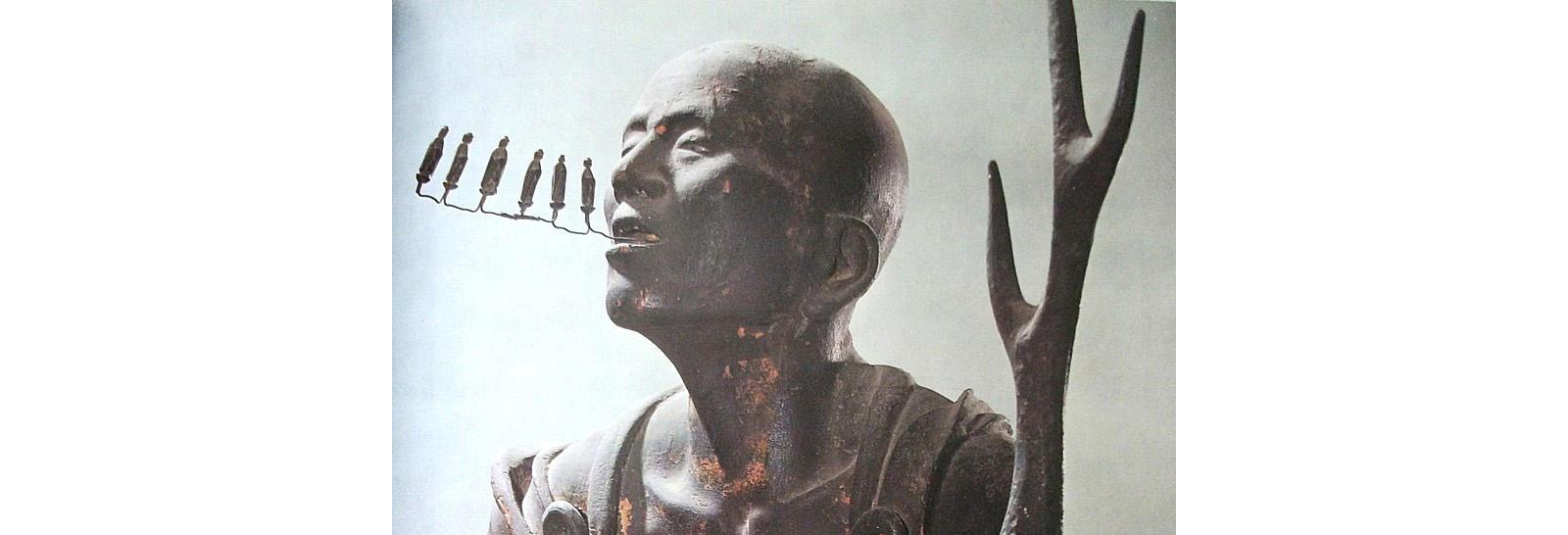 Buddhist singing statue