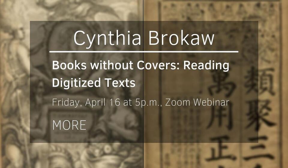 Talk by Cynthia Brokaw